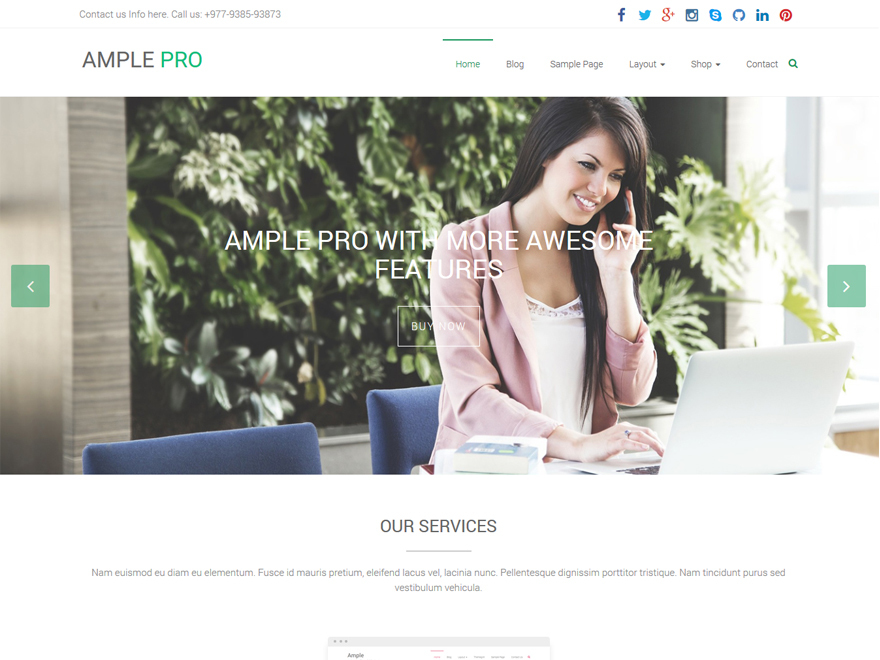 Theme WordPress Ample Pro