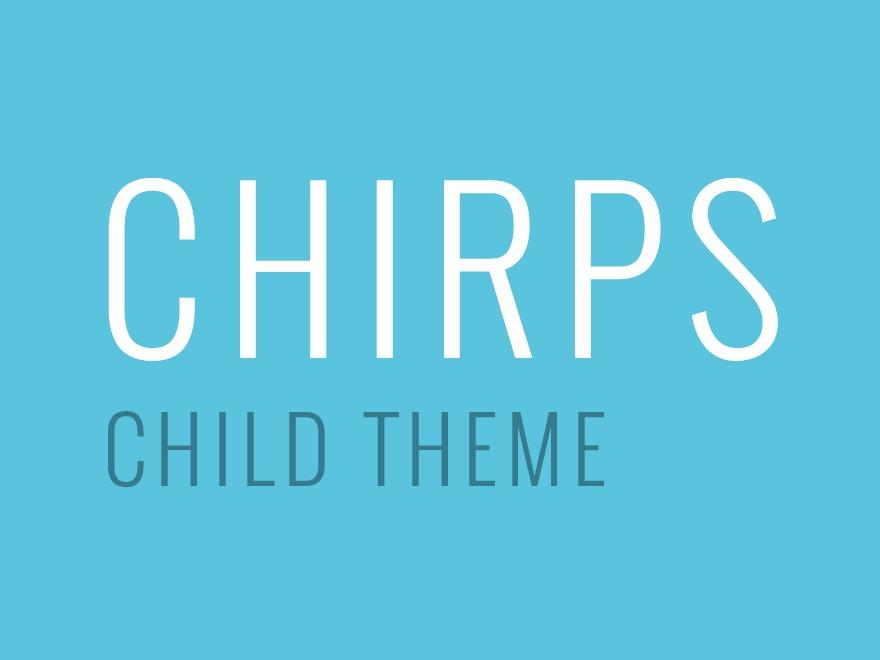 Theme WordPress Chirps Child Theme