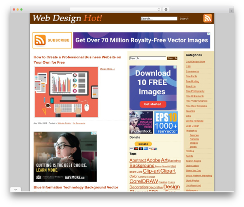Free WordPress Related Posts Thumbnails Plugin for WordPress plugin - webdesignhot.com