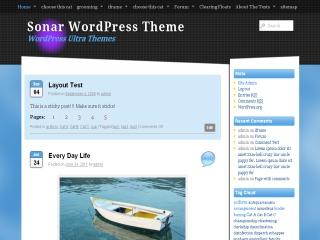 Theme WordPress Sonar