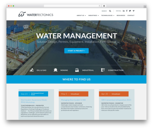 Theme WordPress Twenty Thirteen - watertectonics.com