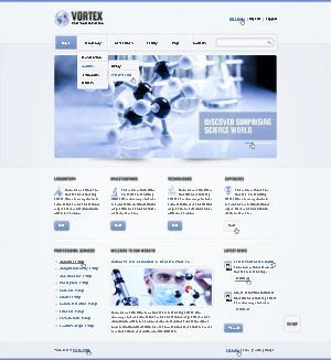 theme1626 WordPress page template