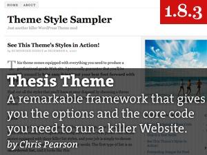 Thesis top WordPress theme