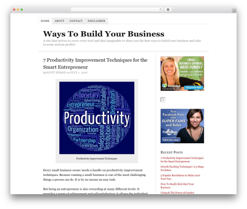 Thesis WordPress template for business - waystobuildyourbusiness.com