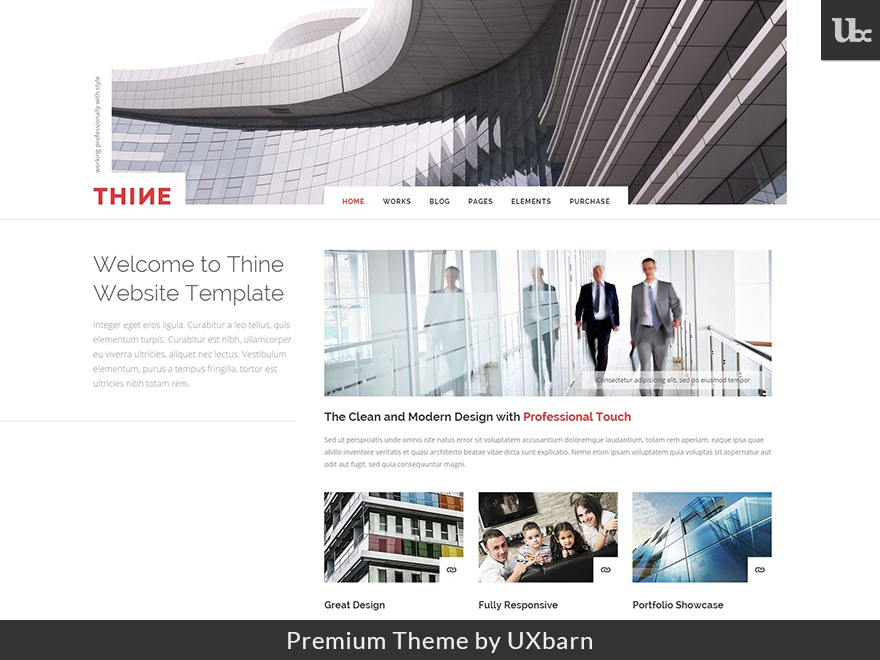 Thine company WordPress theme