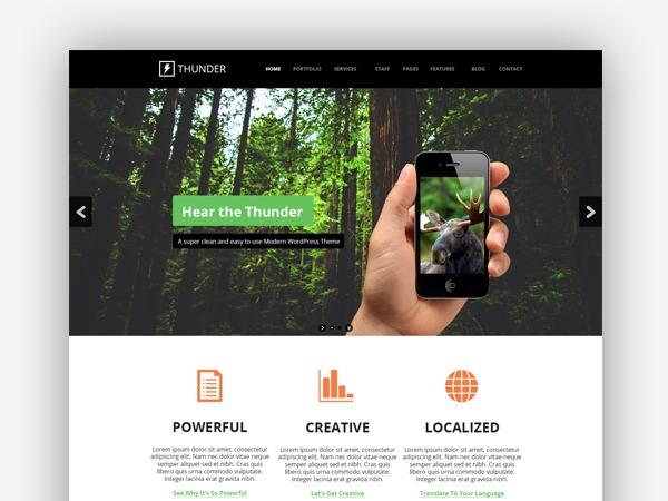 Thunder WordPress theme design
