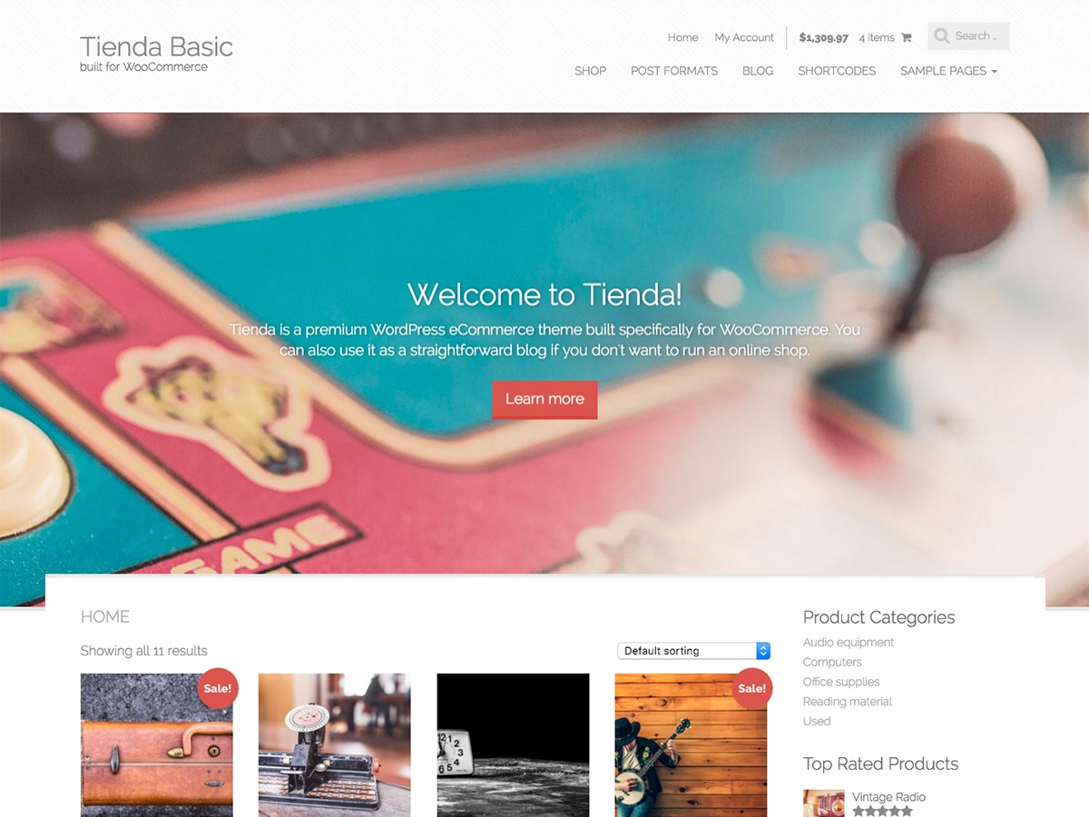 Tienda Basic WordPress shop theme