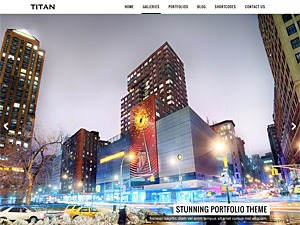 Titan photography WordPress theme