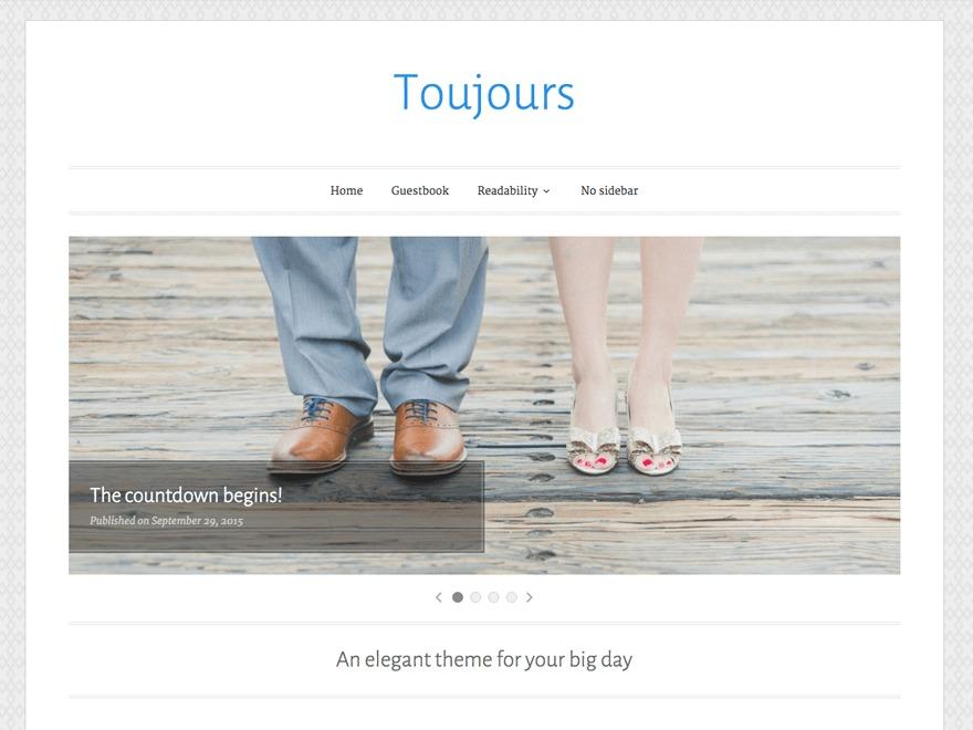 Toujours WordPress template free download