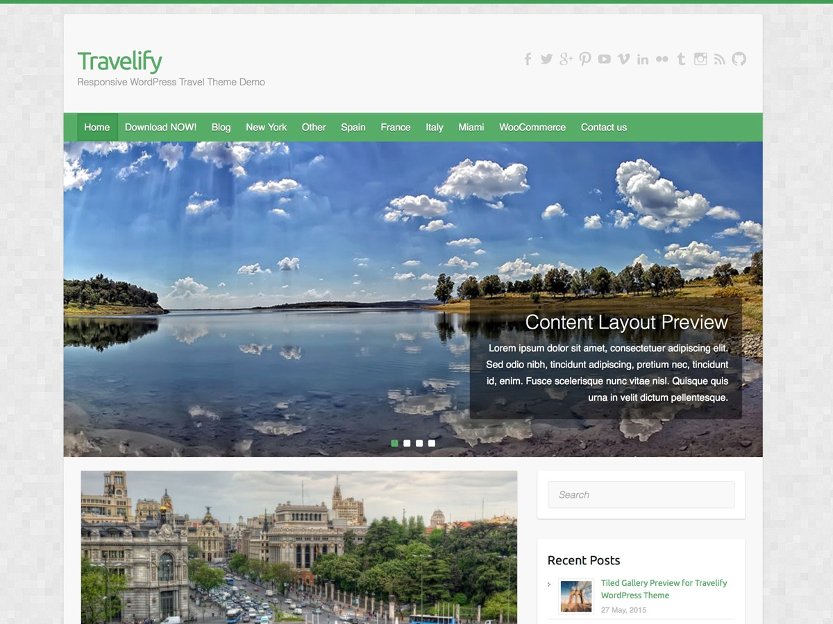 Travelify WordPress blog template