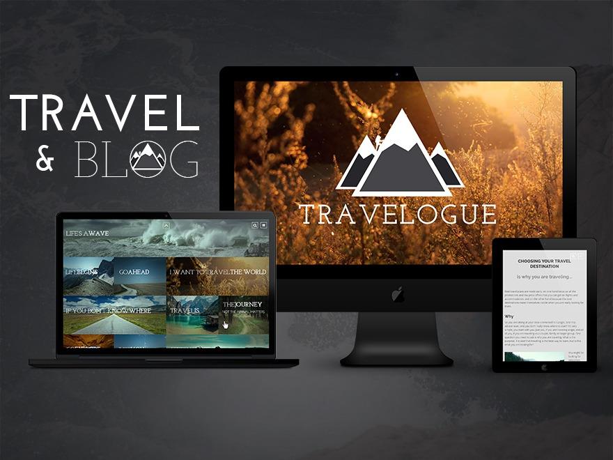 Travelogue Theme WordPress travel theme