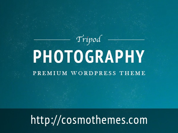 Tripod WordPress template