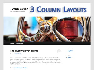 Twenty Eleven Layouts WordPress theme