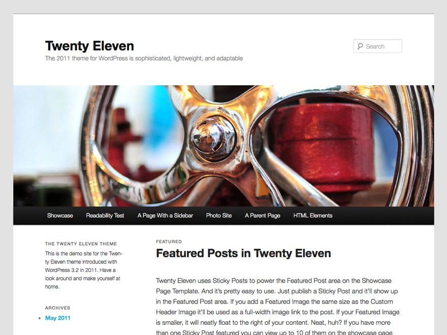 Twenty Eleven theme free download