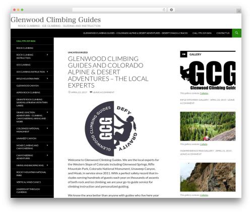 Twenty Fourteen WordPress template free - wordpress.glenwoodclimbingguides.com