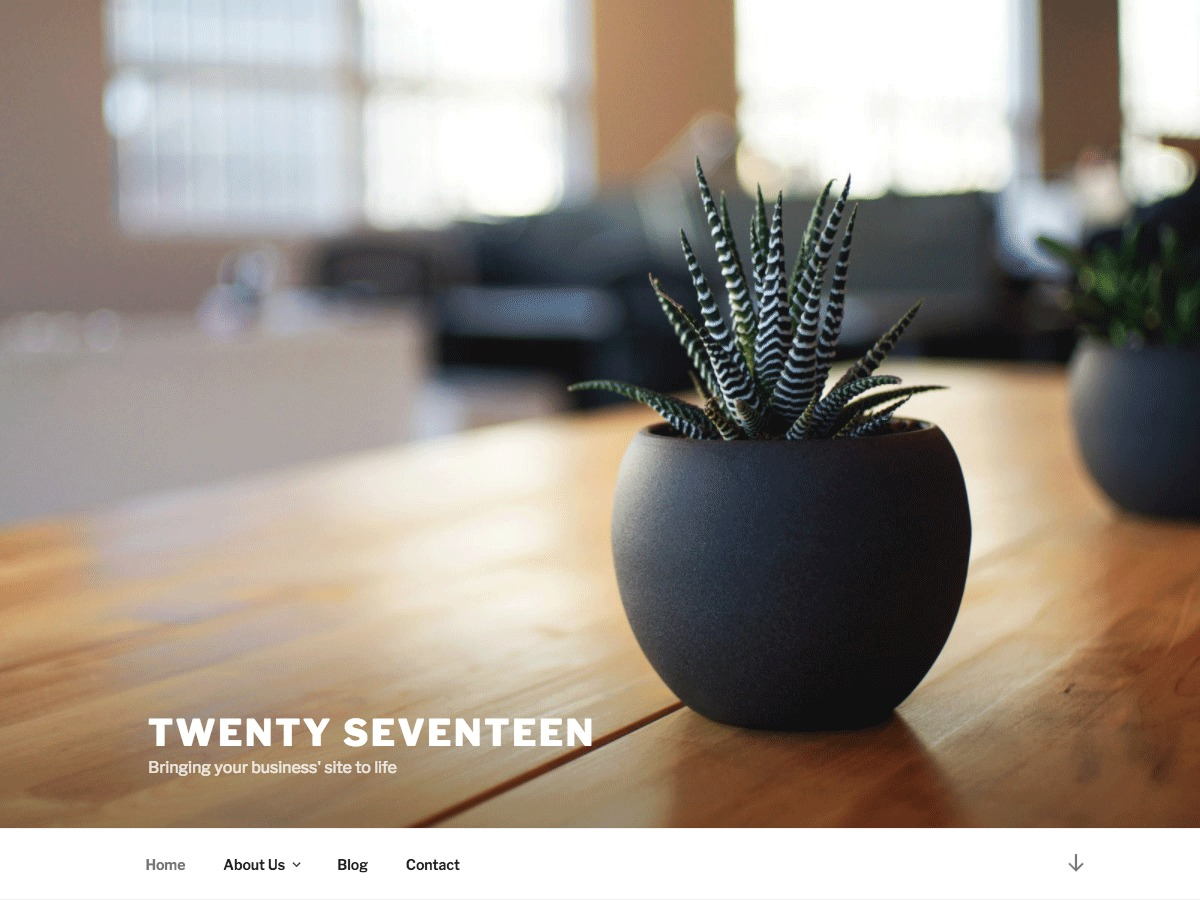 Twenty Seventeen free WordPress theme