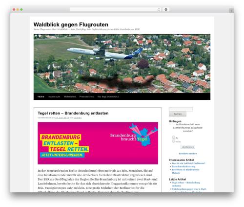 Twenty Ten free website theme - waldblick-gegen-flugrouten.de