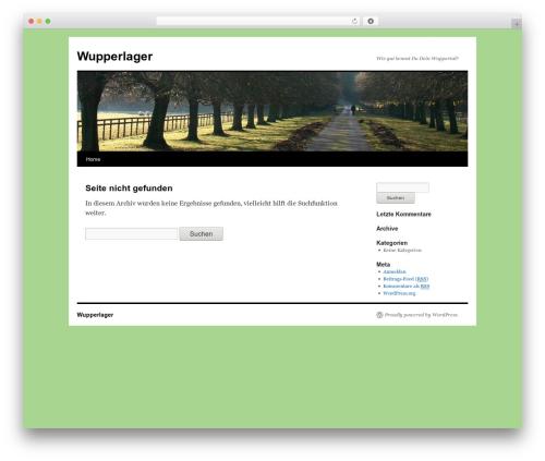 Twenty Ten theme WordPress - wupperlager.de