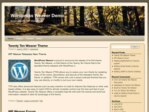 Twenty Ten Weaver WordPress store theme