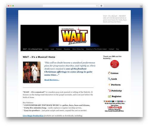 Twenty Ten WordPress theme design - waitiam.com