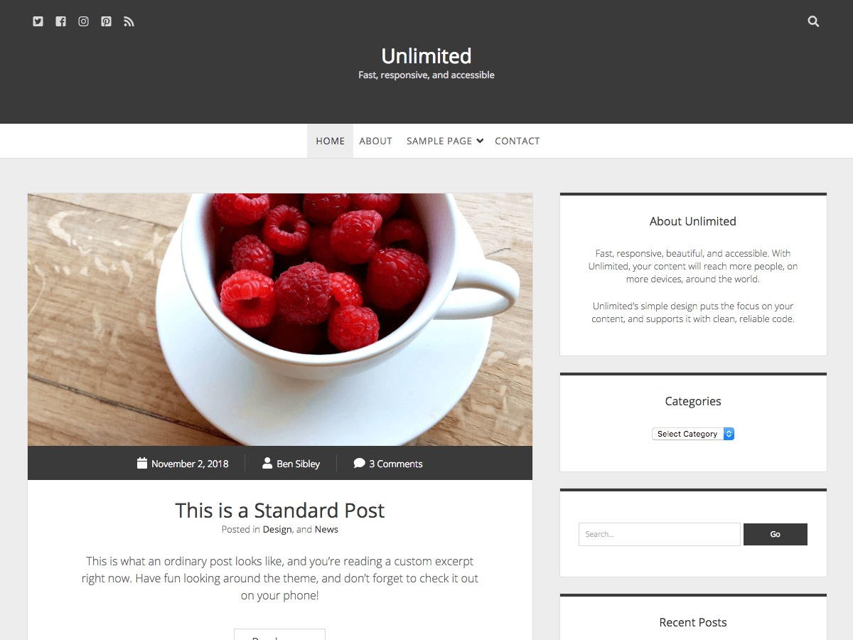 Unlimited free WP theme