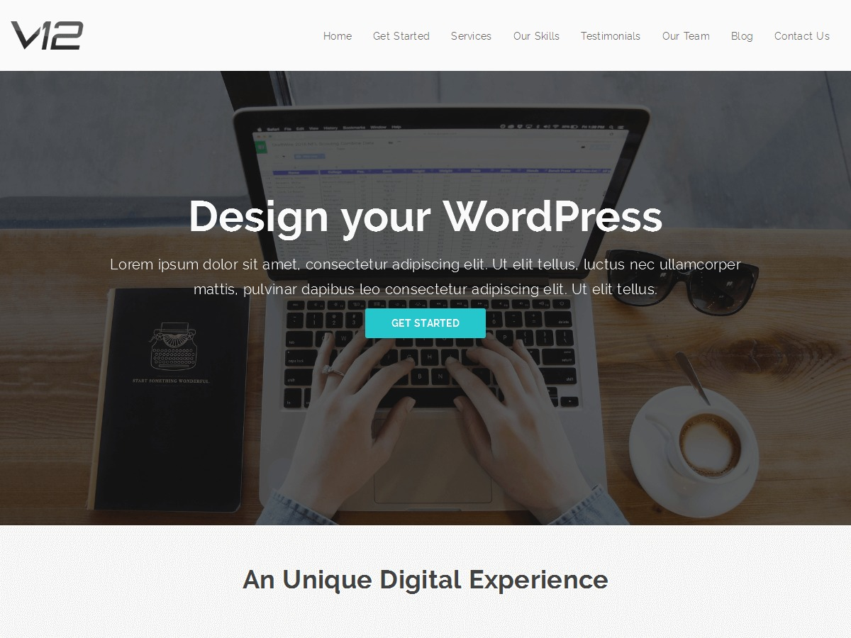 V12 template WordPress free