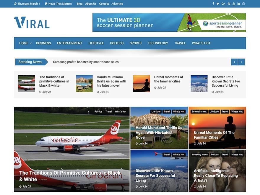 Viral WordPress news theme