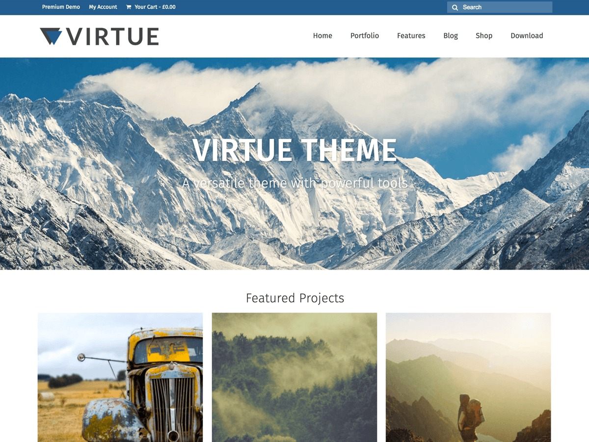 Virtue Free WordPress Themes Download
