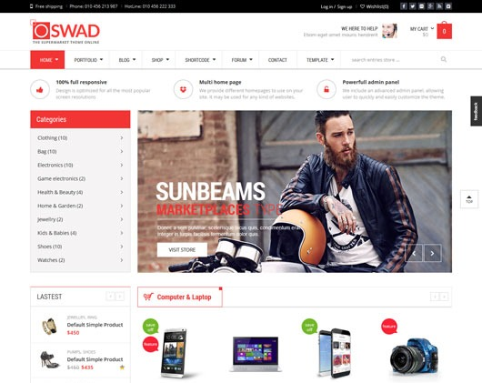 WD OSWAD MARKET best WordPress theme