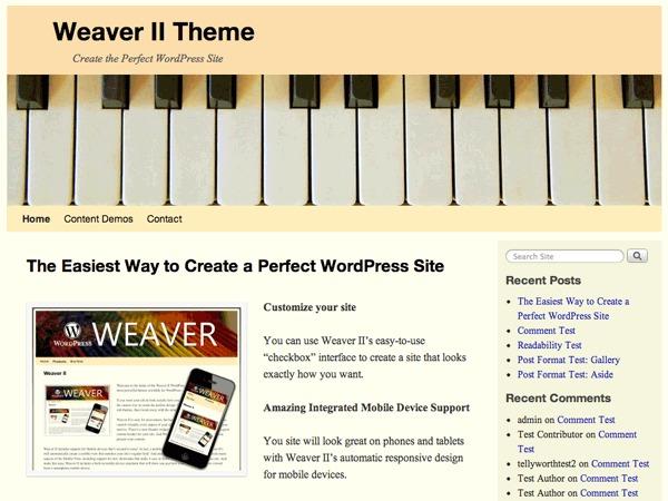 Weaver II best WooCommerce theme