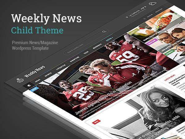 WeeklyNews Child Theme WordPress news template