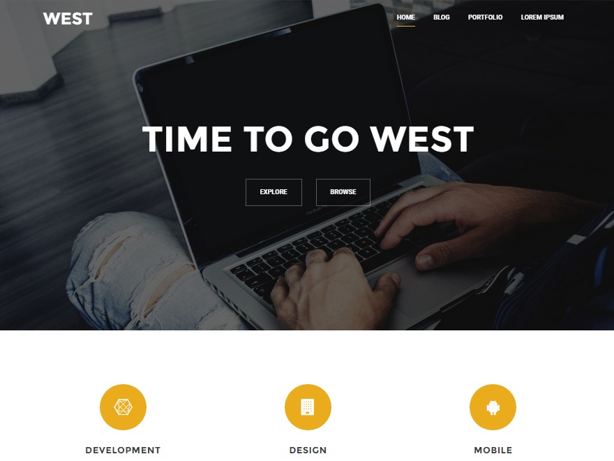 West company WordPress theme