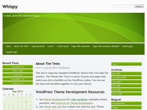 Whispy WordPress template