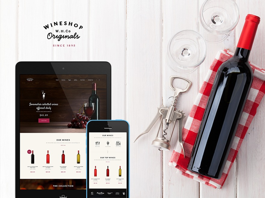 WineShop WordPress shopping theme