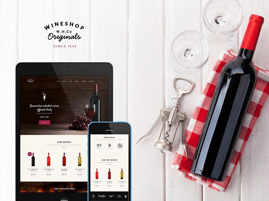 WineShop WordPress shopping theme
