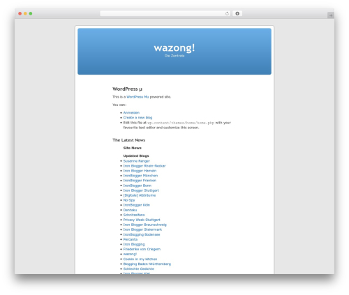 WordPress mu Homepage theme WordPress - wazong.de