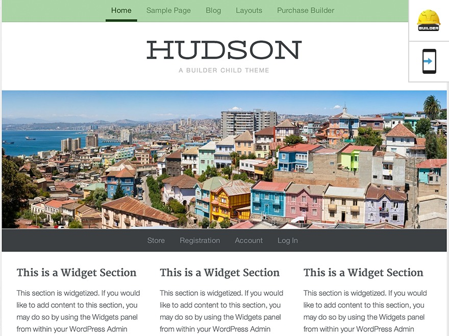WordPress template Hudson