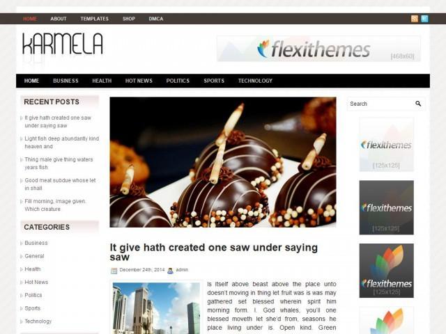 WordPress template Karmela