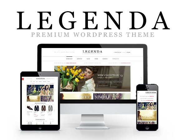 WordPress template LEGENDA - 8theme WordPress theme