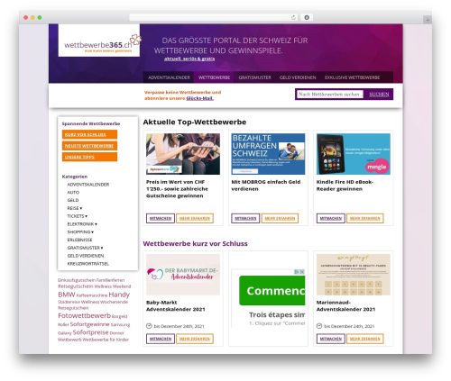 WordPress template Sahifa - wettbewerbe365.ch