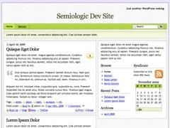 WordPress template Semiologic
