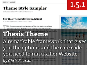 WordPress template Thesis