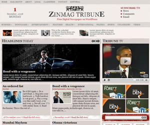 WordPress template Tribune