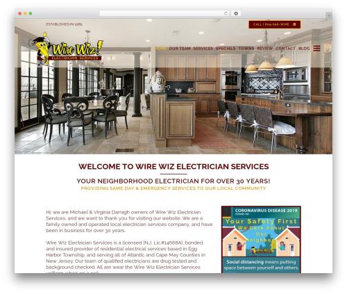 WordPress theme Bridge - wirewizelectricianservices.com