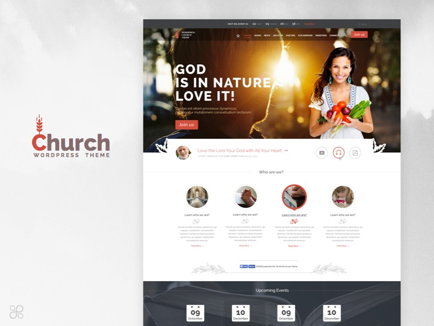 WordPress theme Church & Event