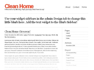 WordPress theme Clean Home
