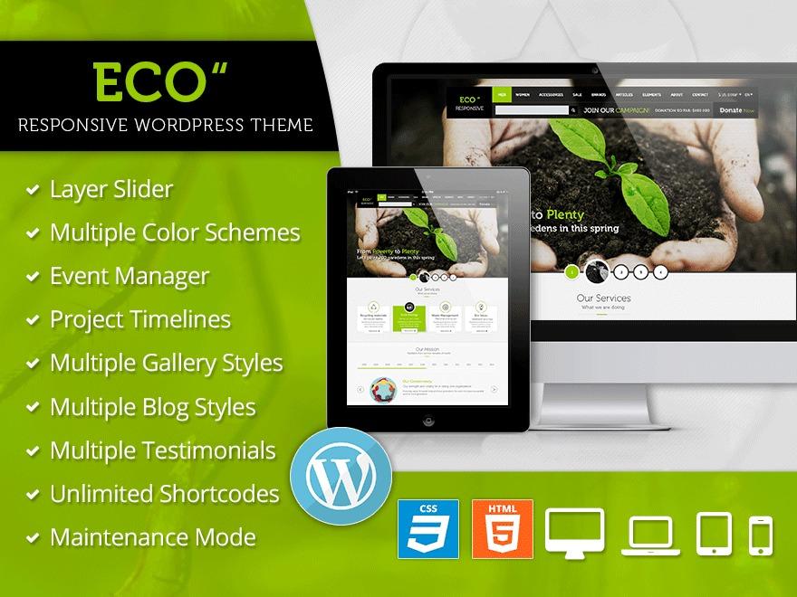 WordPress theme Eco WP Responsive Environment Theme