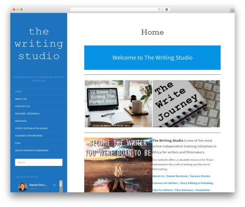 WordPress theme Flat - writingstudio.co.za