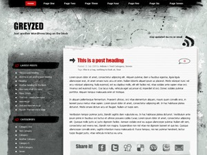 WordPress theme Greyzed