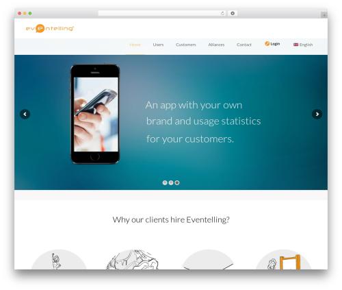 WordPress theme Mobera - web.eventelling.com